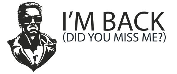 I am back Завръщането към фитнес блога